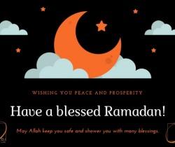 Wishing you a blessed Ramadan.